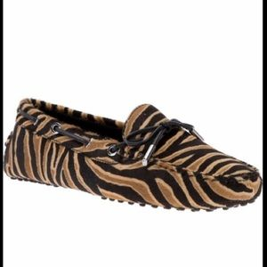 TOD'S Tiger Print Loafers
